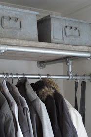 Industrial piping coat rack