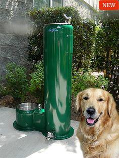 Dogs & People Fountain (HF-PP-MSS) | Dog Park Equipment – H2O Fido | Splash Pads, Dog Park & Dog Agility Equipment