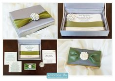 """#TrendsWeLove - Add some """"bling"""" to your wedding invitations! Photo compliments of Embrace Life Photographers."""