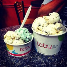"""Fro-Yo Family!    @bcollazo09's photo: """"Baby TCBY and Papa TCBY #froyo #yum #tcby #dessert"""""""