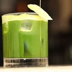 Summer cocktail must try: Blue agave blanco tequila, ginger & kale juice, lime juice, agave nectar and smoked sea salt.