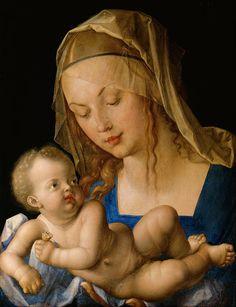 Albrecht Dürer - Virgin and child with a pear - Google Art Project - Albrecht Dürer — Wikipédia
