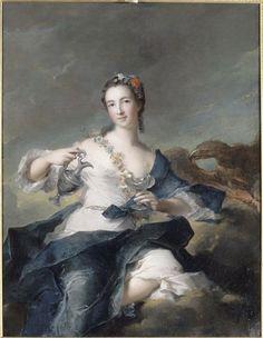 Jean-Marc Nattier  Portrait de Louise Henriette de Bourbon-Conti, duchesse d'Orléans, en Hébé