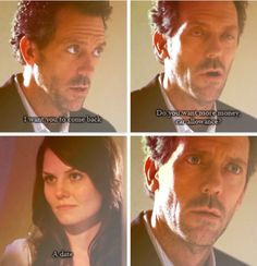 House and Cameron - making a date to get her to come back to work. Sorry but whoever did this should have found a better image for the second picture Grey Anatomy Quotes, Greys Anatomy, I Love House, My House, Best Tv Shows, Movies And Tv Shows, House Md Quotes, Everybody Lies, Gregory House