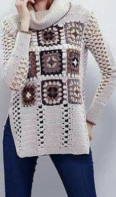 Crochet Jacket, Knitted Poncho, Crochet Cardigan, Crochet Dress Outfits, Crochet Clothes, Easy Crochet, Free Crochet, Knit Crochet, Crochet Ideas