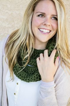 Cozy up to your knitting needles this fall with this chic scarf.