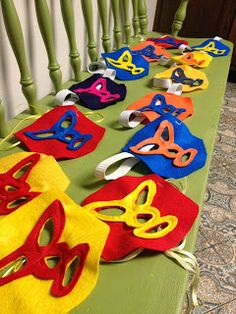 Nacho Libre Theme- masks from felt. Mothering with Creativity