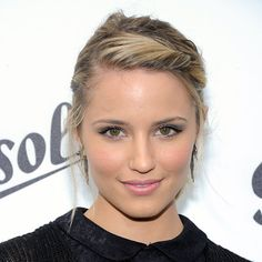 Do the Twist    Growing out your bangs? Dianna Agron's style is perfect for you, then. Roll, twist, and pin your fringe in the front, and don't worry if a couple wispy strands fall free.