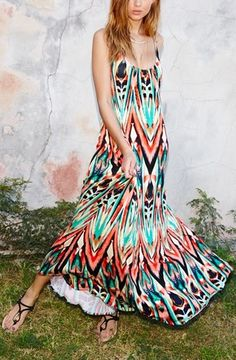 The slinky scoop necklines in front and back give this tropical vacation dress a sultry vibe. @nordstrom #nordstrom