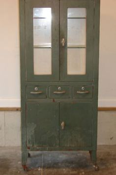 Looking for one of these floor standing metal cabinets for medical collection.