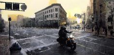 Spur Over Sixth by David Cheifetz Oil ~ 18 x 36