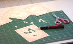 4 Original Papercut PRINTED PATTERNS. Ready to cut by by elsita