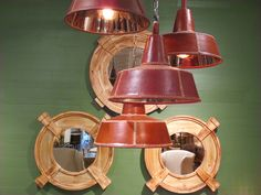 Leather Stitched Cone Pendants - http://www.hudsongoodsblog.com/leather-stitched-cone-pendants/