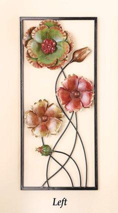 be041ecd2b Beautiful Left 3D Floral Flowers Wall Art Decor Elegant Design and Textured