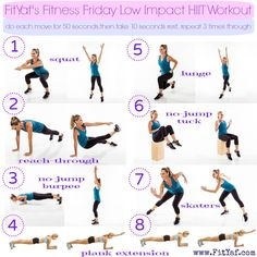 FitYaf's #FitnessFriday Low Impact #HIIT workout #lowimpact