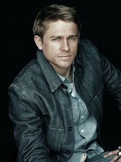 Charlie Hunnam - I had no idea what was hiding under that long hair and beard. I am speechless!