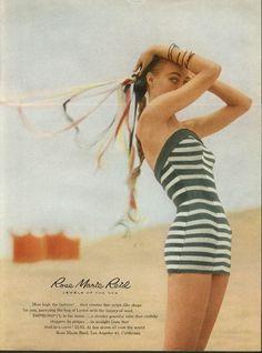 8f07113b808 How high the fashion! Rose Marie Reid Impromptu swimsuits ad 1957 Moda  Urbana, Publicidad