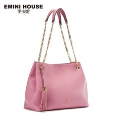 71.66$  Watch now - http://aliba8.worldwells.pw/go.php?t=32789298826 - EMINI HOUSE Luxury Tassels Chain Bag Genuine Leather Women Shoulder Bag Crossbody Bags For Women Cow Leather Ladies Bags