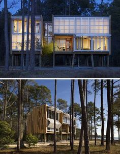 modular lofted wood home  Could work for our low area at the lake!