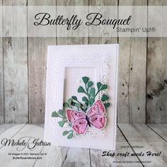 My card today uses the Stampin' Up! 'Joyful Holly'. This is a simple card to make, you will have fun making this for your friends and family. Al Image, Stampin Up Cards, Bouquet, Butterfly, Frame, Crafts, Inspiration, Home Decor, Picture Frame