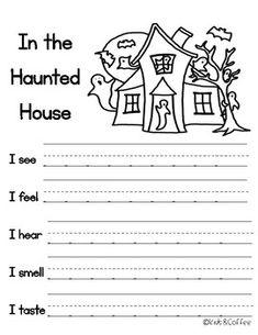 First Grade Writing, Teaching First Grade, Teaching Kindergarten, Teaching Writing, Writing Activities, Classroom Activities, Writing Prompts, Preschool, Hallowen Ideas