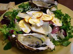 http://www.chefstefanobarbato.com/it/insalata-carpacciata-con-ovuli-tonno-e-ostriche/ #carpaccio #tonno #ostriche #funghi #ovuli #ricetta #food #cucina @BarbatoStefano