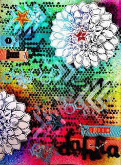 "Searchsku: ""Dahlia"" Art Journal Page"