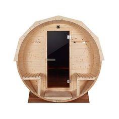 Indoor Sauna, Indoor Outdoor, Sauna Benefits, Porch Canopy, Barrel Sauna, White Spruce, Sauna Design, Steam Sauna, Tempered Glass Door