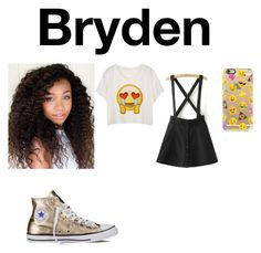 """""""ProjectMc2 Bryden"""" by chrissyalyse ❤ liked on Polyvore featuring Converse and Casetify"""