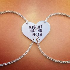 Right Hand Man BFF Bracelets Inspired By Hamilton Broadway Musical HERE COMES THE GENERAL- You will receive two handmade silver bracelets, hand stamped with the words, RIGHT HAND MAN in the same style as iconic and kitschy Best Friend jewelry! Who needs BE FRI and ST END when you've got A Dot H
