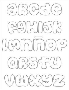 Stencil Lettering, Lettering Tutorial, Graffiti Lettering, Alphabet Templates, Alphabet Stencils, Felt Name, Printable Letters, Felt Patterns, Alphabet And Numbers