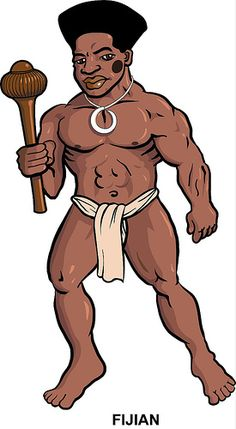 Another in the series on Polynesian warriors; Classic fijian throwing club, recognizable fijian hairstyle (one of many, tho), and single boar tusk pendant, no tattoo, but black face paint. loincloth with front flap. What else is needed? One of the easier ones, a break after the Marquesan and Samoan figures!    na toa fiji draft 1 by Goniagnostus, via Flickr
