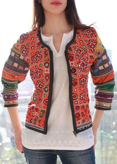 Looking for Jackets & Coats? Call off the search with our Anjuna Embroidered Mirror Jacket. Shop unique fashion at SilkFred Designer Party Wear Dresses, Indian Designer Outfits, Mirror Jacket, Couture Coats, Casual Frocks, White Dress Summer, Embroidery Fashion, Embroidered Jacket, Dresses