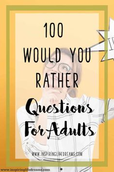 100 Would I Rather Questions For Adults – Let's Have Some Fun! 100 Would I Rather Questions For Adults – Let's Have Some Fun! Would Rather Questions, Would You Rather Game, Fun Questions To Ask, Couple Questions, This Or That Questions, Deep Questions, Icebreaker Questions For Adults, Icebreaker Ideas, Personal Questions