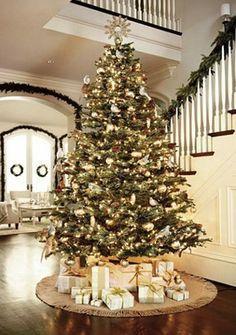 #Christmas tree #decorations gold mercury glass ToniK Ðℯck Ʈհe HÅĿĿs #DIY #crafts