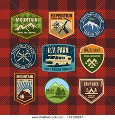 Vintage Camp Patches Vintage camping and hiking