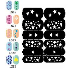 2 82 23019 1 Sheet Nail Art Manicure Stencil Stickers Easy Use Vinyls