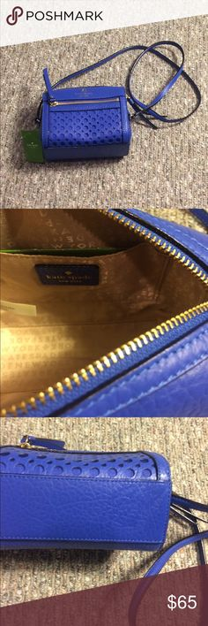 Kate Spade ♠️ Blue Crossbody. I never wore this one but always liked it. 🤗 kate spade Bags Crossbody Bags