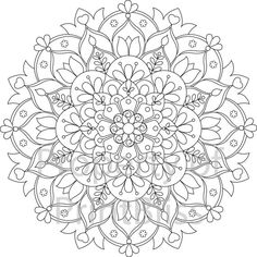 15. Flower Mandala printable coloring page. by PrintBliss on Etsy