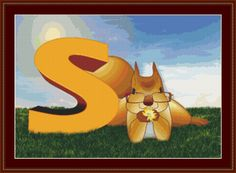 S Is For Squirrel Cross Stitch Pattern