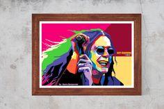 Ozzy Osbourne Black Sabbath WPAP Artwork  Rock Music Print Poster Canvas / Silk / Matt A6, A5 ,A4 , A3 , A2 by CanvasArt8D on Etsy
