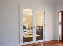 interior clear glass door. 1 Lite Internal Solid Engineered Timber French Doors Painted White, Clear Safety Glass And Premium Interior Door O