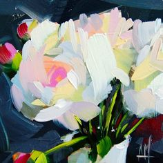 Peonies in Vase no. 12 6 x 6 x inch x 15 cm) Oil paint on archival gessobord panel. Copyright: Angela Moulton © Painting will be dry and ready to ship March Peony Drawing, Drawing Flowers, Painting Flowers, Life Drawing, Inspiration Art, Still Life Oil Painting, Arte Pop, Arte Floral, Abstract Flowers