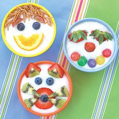 A simple pudding turned into a fruit delight for children