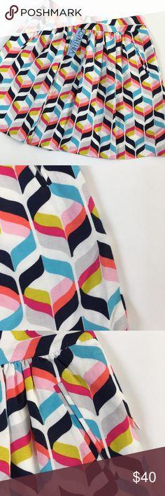 "NWT - Cynthia Rowley - Retro Printed Mini Skirt! NWT. So colorful! Cute cotton skirt with front pockets. Never worn, no damage. Approx. 19"" long. Cynthia Rowley Skirts Mini"