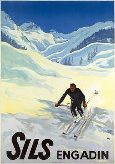 SPORTS D/'HIVER DANS LES VOSGES.Vintage 1933 Travel//Skiing Poster A1A2A3A4 Sizes