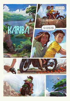 KARIBA test pages. on Behance