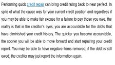 #Credit Repair is a Beneficial Method. http://articles.pubarticles.com/how-to-credit-repair-is-a-beneficial-method-1443001595,1569309.html