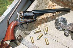 Cimarron remake of the colt 1873 single action army chambered in 45 long colt .Love this pistol..
