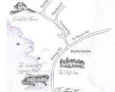 Custom bespoke maps by Appleberry Atelier Illustrated Maps, Bespoke, Illustrators, Cool Designs, Etsy Seller, Personalized Items, Atelier, Taylormade, Illustrator